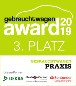 Siegel Gebrauchtwagen Award 3. Platz 2019